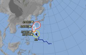 台風22号予想図 画像