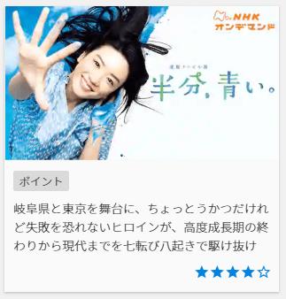 半分青いU-NEXT,画像