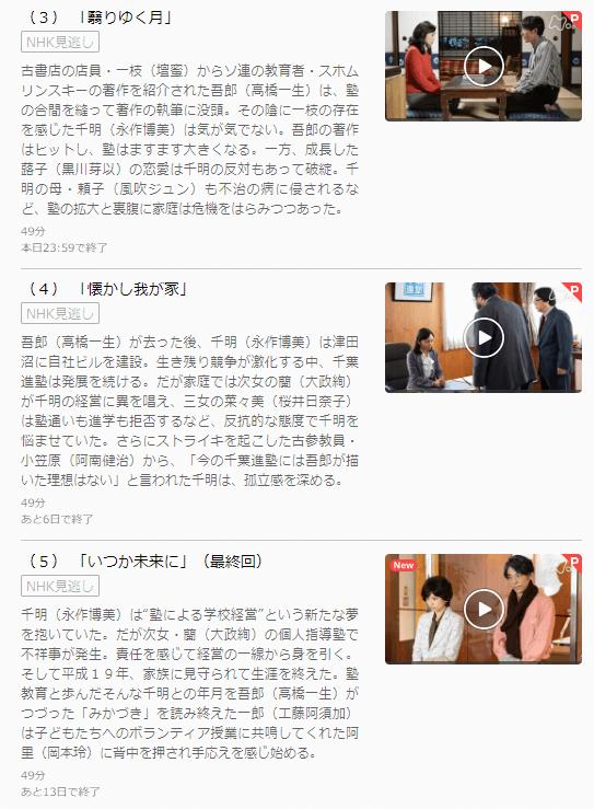 土曜ドラマみかづきU-NEXTキャプチャ,画像