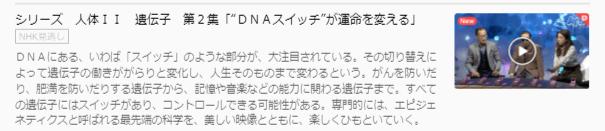 U-NEXT・NHKスペシャル人体2DNAスィッチキャプチャ,画像