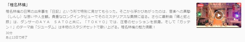 U-NEXTSONGS椎名林檎キャプチャ,画像