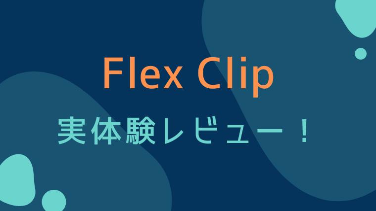 Flex Clip 実体験レビュー! テキスト,画像